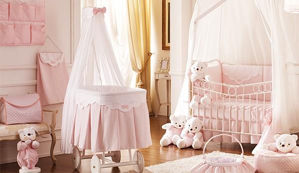 интерьер комнаты с детской кроваткой, фото 50
