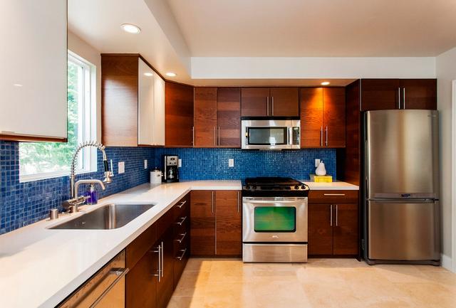 современный дизайн небольшой кухни