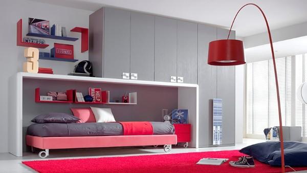 современный интерьер детской спальни для подростка