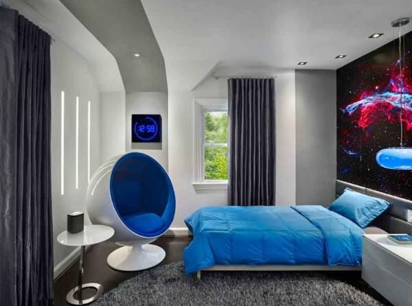 современный интерьер спальни фото