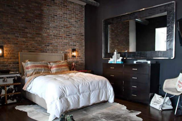 спальня в стиле лофт примеры