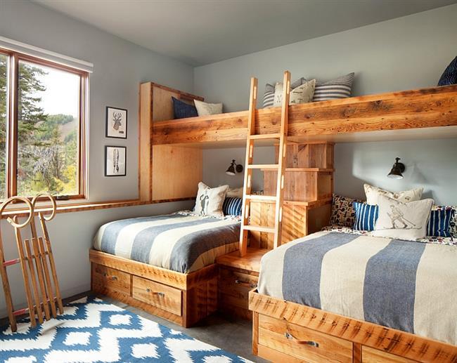 стиль кантри спальня