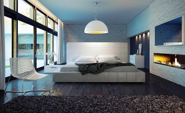 стиль хай тек в интерьере спальни