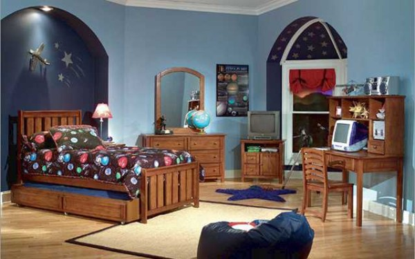 стильный дизайн интерьера детской спальни для подростка