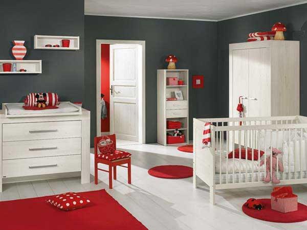 интерьер комнаты с детской кроваткой, фото 51
