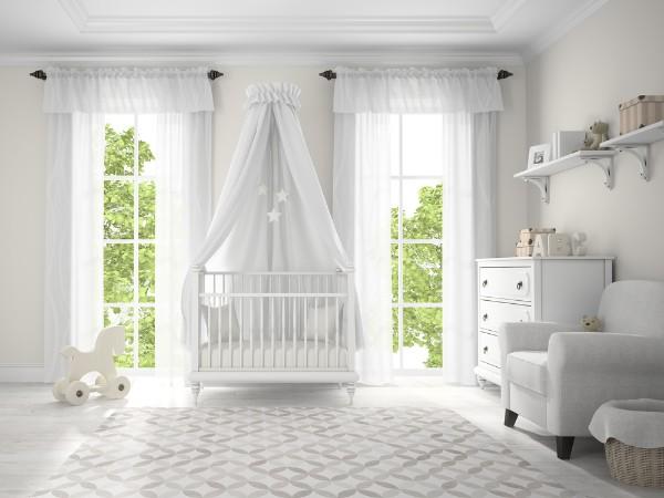 интерьер комнаты с детской кроваткой, фото 52