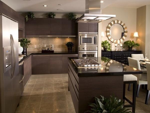 угловая кухонная мебель для просторной кухни