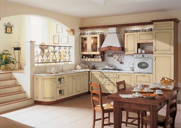 угловая кухонная мебель в стиле модерн