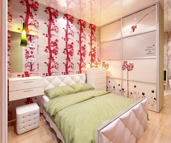яркий интерьер детской спальни для девочки подростка