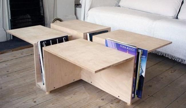 Креативный стол из фанеры, фото