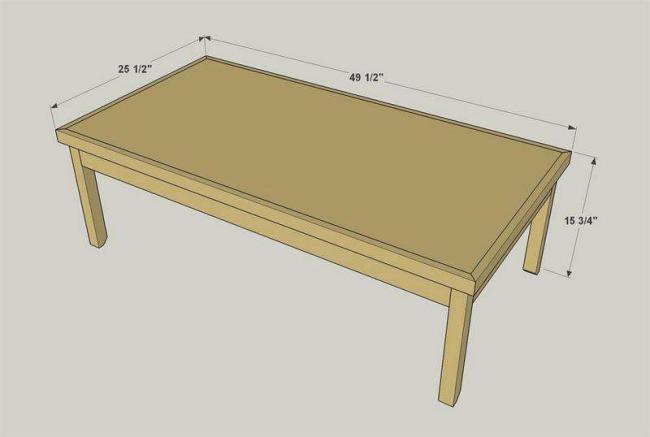 Стол из фанеры, чертежи фото 19