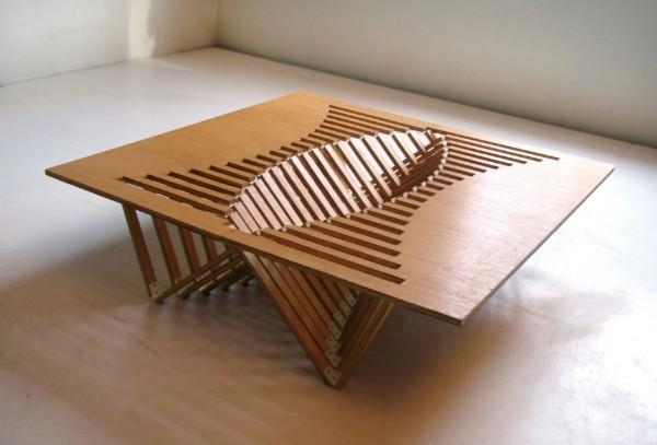 Журнальный стол из фанеры, фото 43