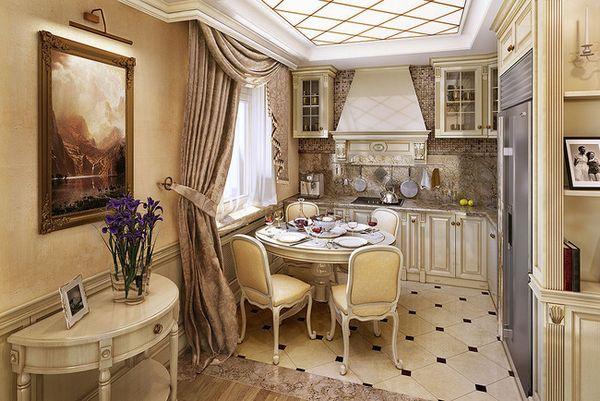 красиво оформленные шторы на кухне, фото 23