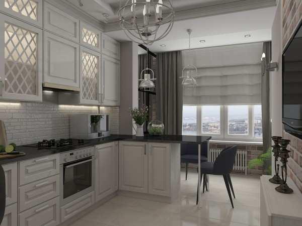 интерьер кухни с балконом, фото 1