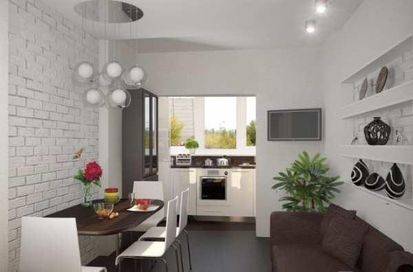 интерьер кухни 12 кв м с балконом, фото 10