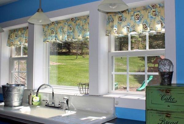 красивые короткие шторы на кухню, фото 34