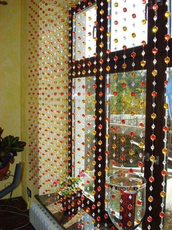 красивые шторы на кухню с балконной дверью, фото 31