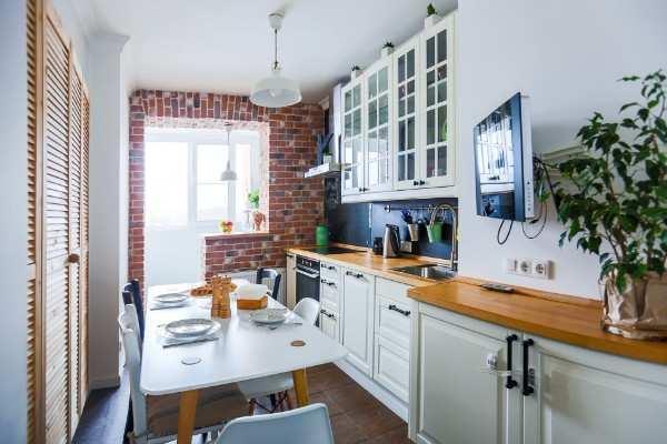 интерьер кухни с выходом на балкон фото, фото 13