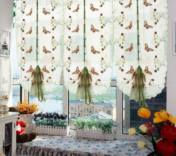 красивые модные шторы на кухню, фото 37