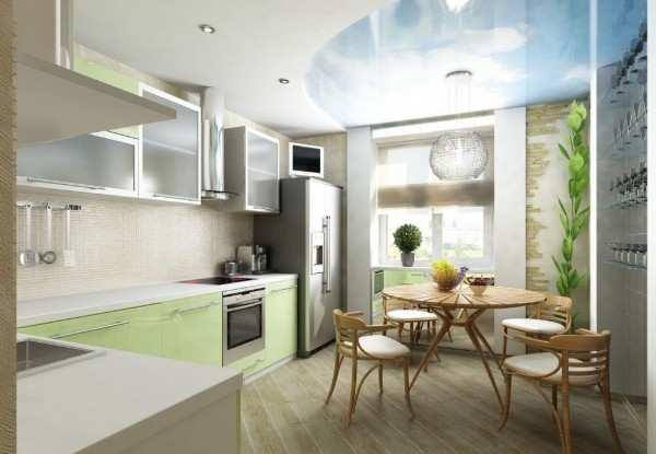 интерьер кухни 9 кв с балконом, фото 18