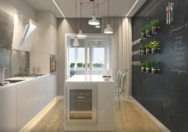 интерьер кухни 8 метров с балконом, фото 19