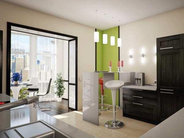 интерьер кухни с выходом на балкон фото, фото 20