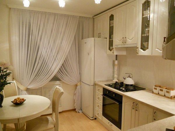 красиво оформленные шторы на кухне, фото 39