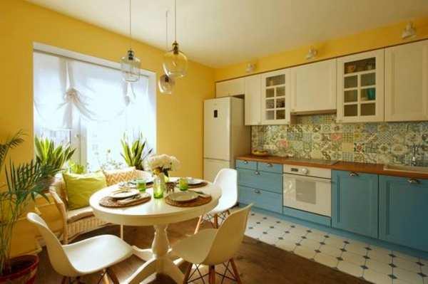 обои на кухне под гарнитур, фото 21