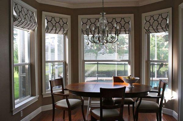 как красиво повесить штору на кухне, фото 3