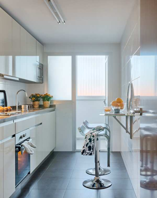 кухня с балконом дизайн интерьер фото, фото 26