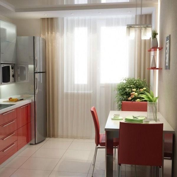 красивые шторы на кухню с балконной дверью, фото 19