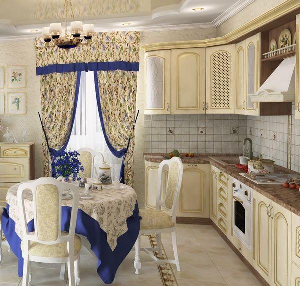 красивые шторы на кухню с балконной дверью, фото 12
