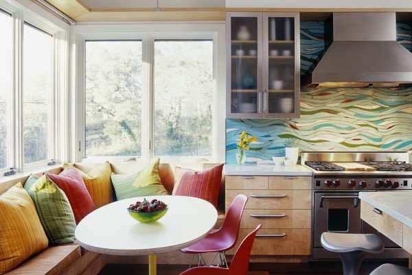 интерьер кухни 9 кв с балконом, фото 31