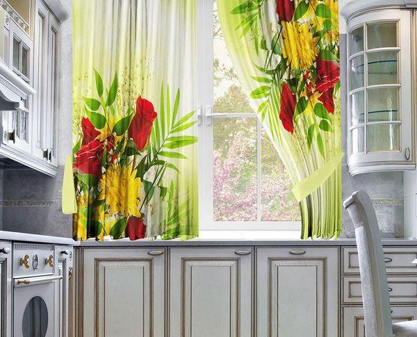 красивые современные шторы на кухню фото, фото 29