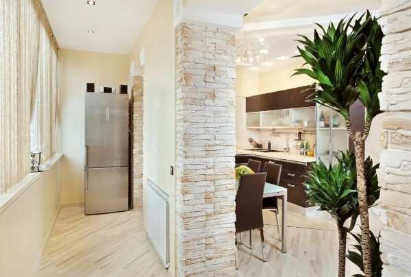 кухня совмещенная с балконом интерьер фото, фото 36