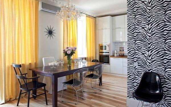 красивые длинные шторы на кухню, фото 8