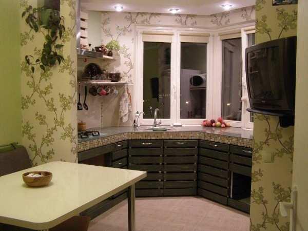 интерьер кухни с балконом фото, фото 38