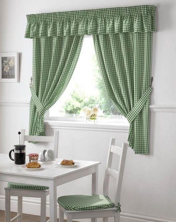 красивые длинные шторы на кухню, фото 15