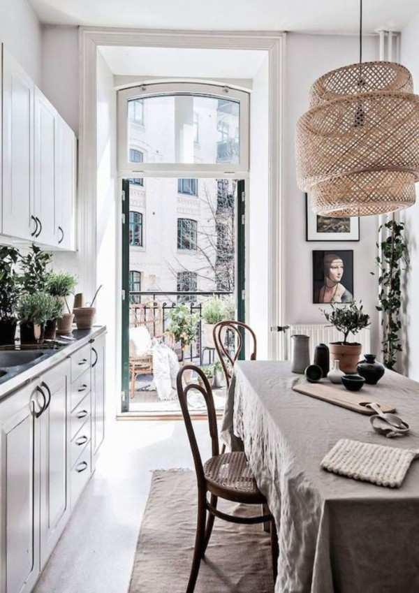 интерьер кухни 10 кв с балконом, фото 44