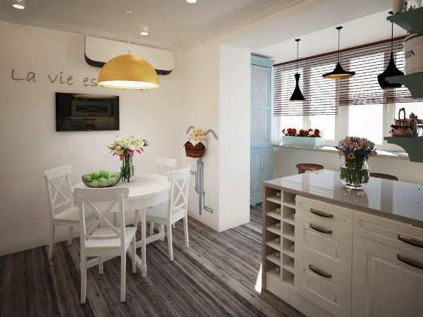 интерьер кухни 9 кв м с балконом, фото 47