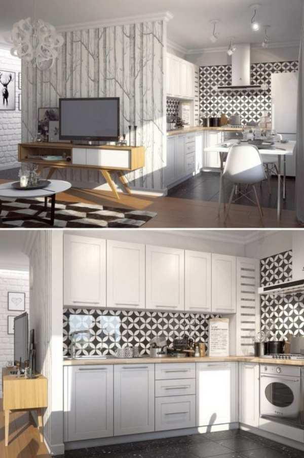 кухня под обои фото, фото 42