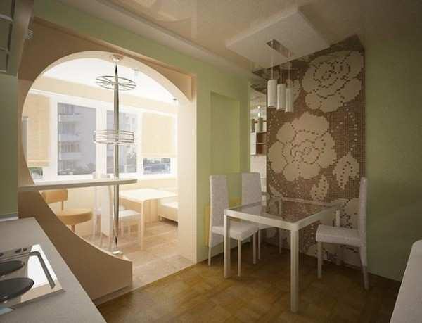 кухня с балконом дизайн интерьер фото, фото 5