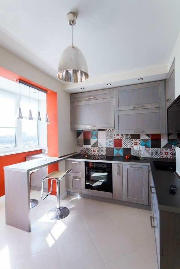 интерьер кухни с выходом на балкон фото, фото 61