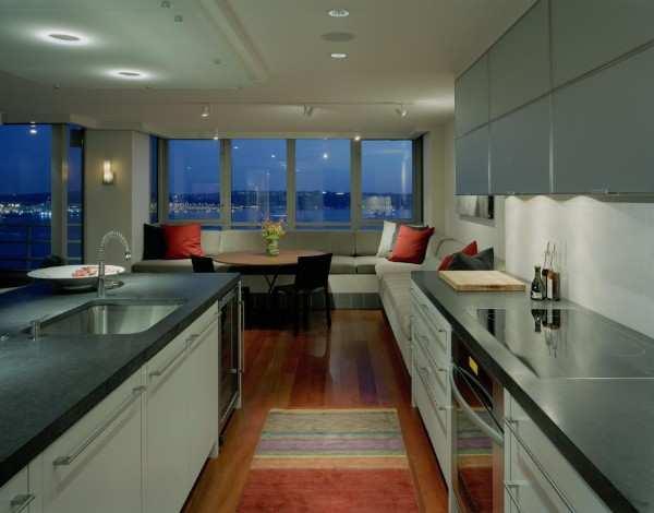 интерьер кухни 10 кв с балконом, фото 7