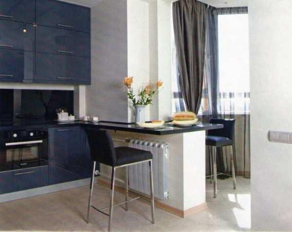 интерьер кухни 9 кв с балконом, фото 8