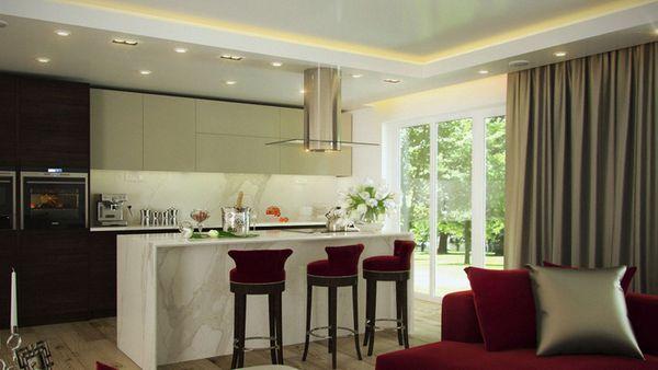 красиво оформленные шторы на кухне, фото 16