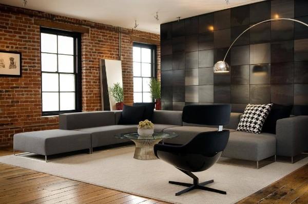 современный дизайн интерьера хай-тек
