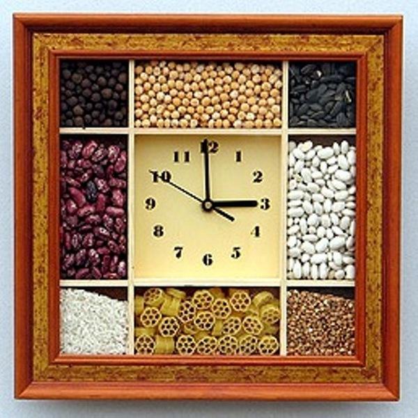часы хенд мейд на кухне