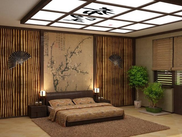 декор спальни в восточном стиле