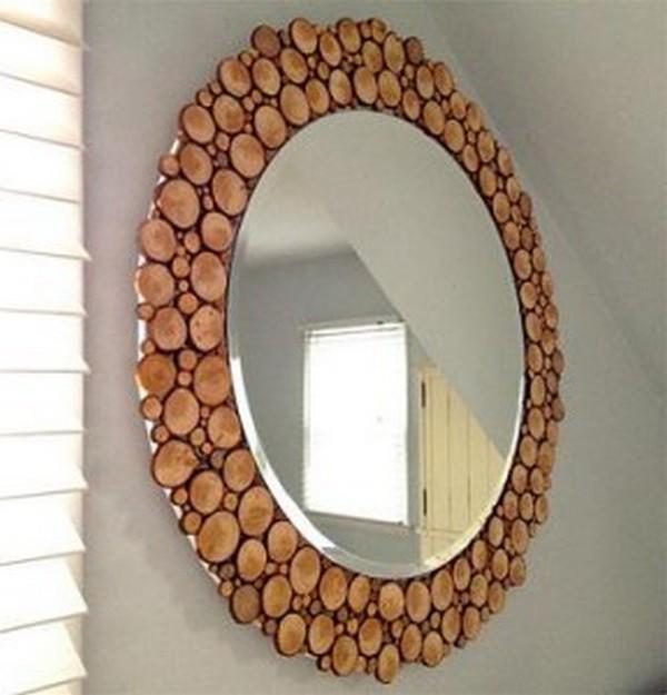 декор зеркала в спальне